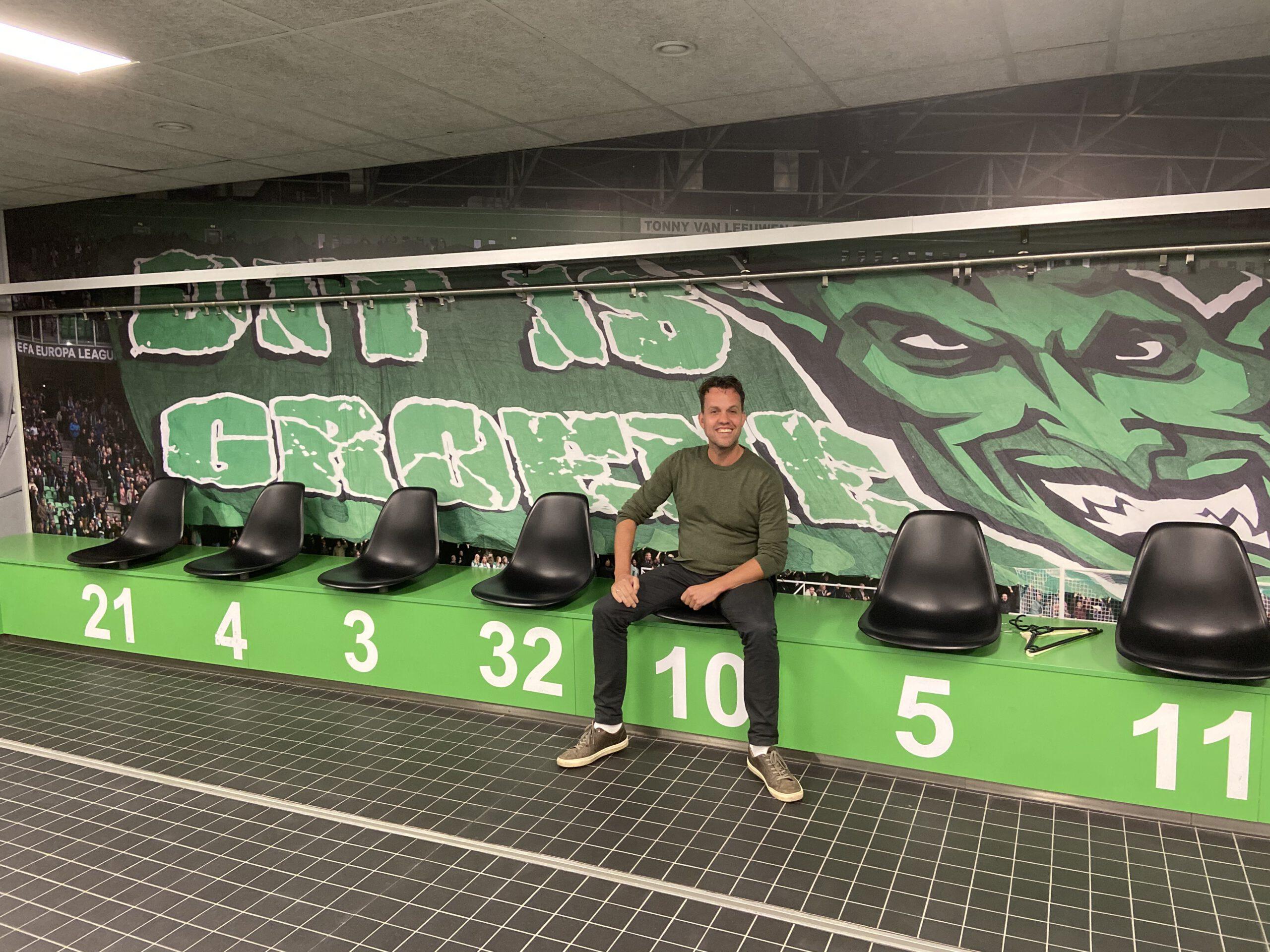 Martin Eefting kleedkamer FC Groningen